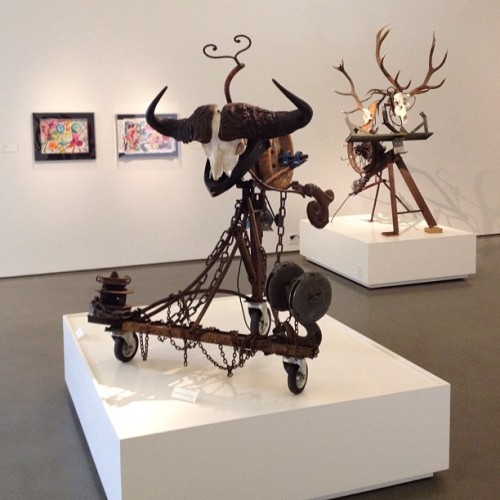 Two more Tinguelys moving in Charlotte, at the Bechtler Museum.  (Taken with Instagram at Bechtler Museum of Modern Art)