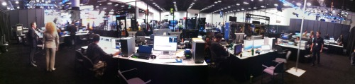 Backstage in CiscoLive Broadcast Studio Day 3- San Diego Convention Center