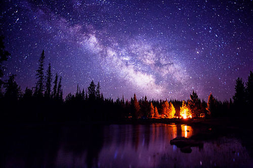 lori-rocks:  Milky Way over camp by Summit42 , ~edit via ~Lori