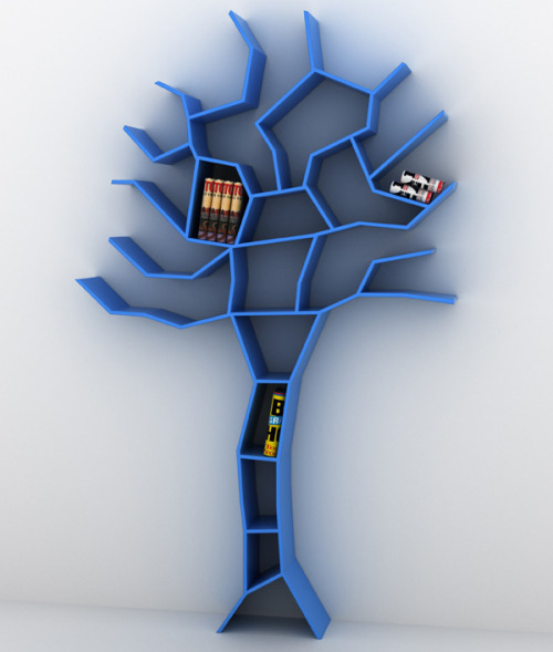 laughingsquid:  Tree Bookcase
