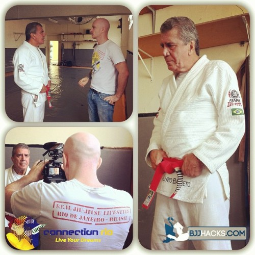 Filming Álvaro Barreto for @bjjhacks #RedBelt documentary with @hywelteague behind the câmera. (Taken with Instagram)