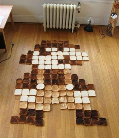 Mario made with toast