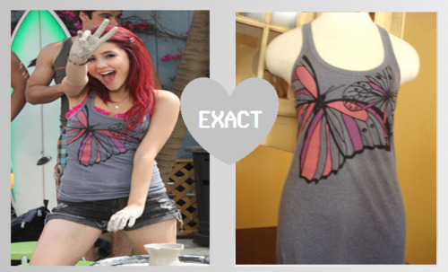 Ariana Grande in a Kirra grey butterlfy tank top