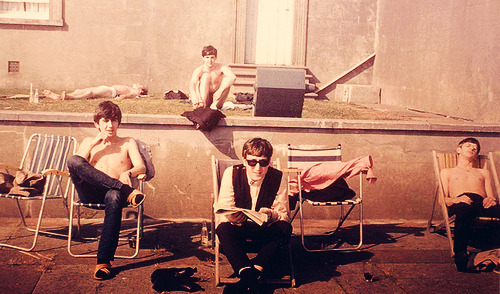 british-music:  On holiday with the Beatles