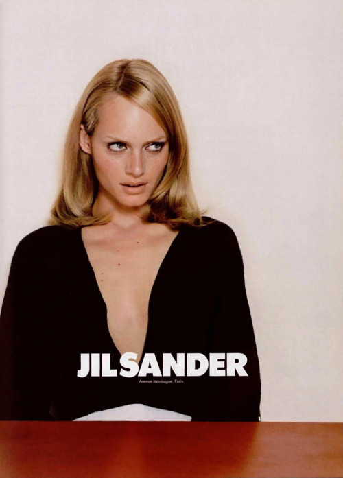 Amber Valletta for Jil Sander, 1995photographer unknown