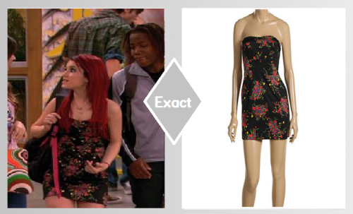 Ariana wears a Free people Black Floral Dress on victorious