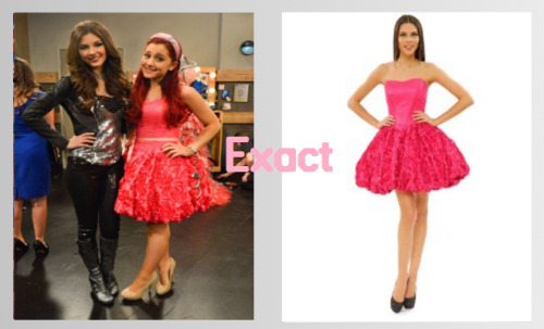 Ariana Grande wearing a Betsey Johnson Rose Strapless dress in the Victorious special 'Tori Goes Platinum'