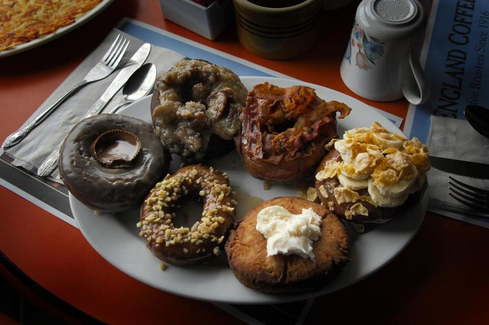 The most imaginative doughnuts in the Northeast  You wouldn't know it from the shabby gray storefront, but Kennebec Cafe may have the best-tasting cake doughnuts in the Northeast. They are at least the most imaginative. (FRED FIELD FOR THE BOSTON GLOBE)