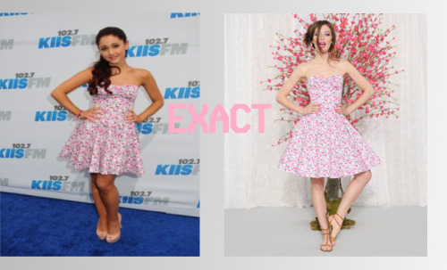 Ariana Grande wears a Betsey Johnson dress to Wango Tango