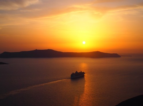 Beautiful Sunset in Fira my photograph