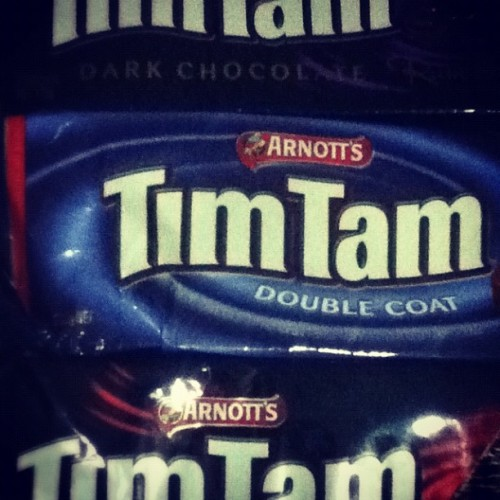 @ruthpatricia is te queen of Tim Tam. #foodporn #food_hub #photooftheday #picoftheday #iphoneography #iphonesia #igpescara #igers #ig #instago #instagood #instagram #instadaily #instadailypix #instagramhub #instagrammer #gf_daily #gf_indonesia #gang_family #contestgram #bestagram #bestof2012 #bestoftheday  (Taken with Instagram)