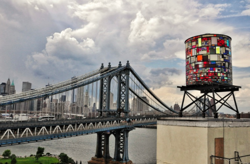 Tom Fruin  Watertower, 2012found plexiglas, steel, bolts 25 x 10 x 10 feet