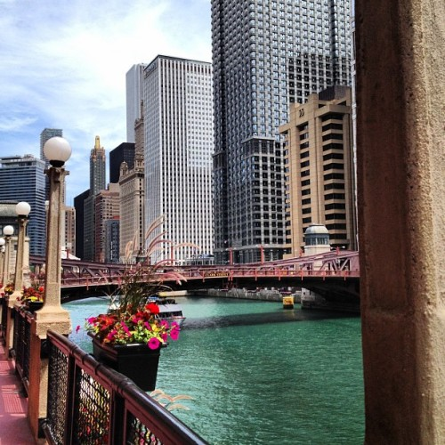 River walk.  (Taken with Instagram at 300 North Lasalle)