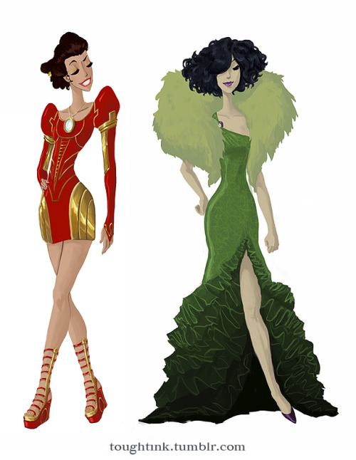 Avengers Gowns - Iron Man & Hulk by kelseymichele