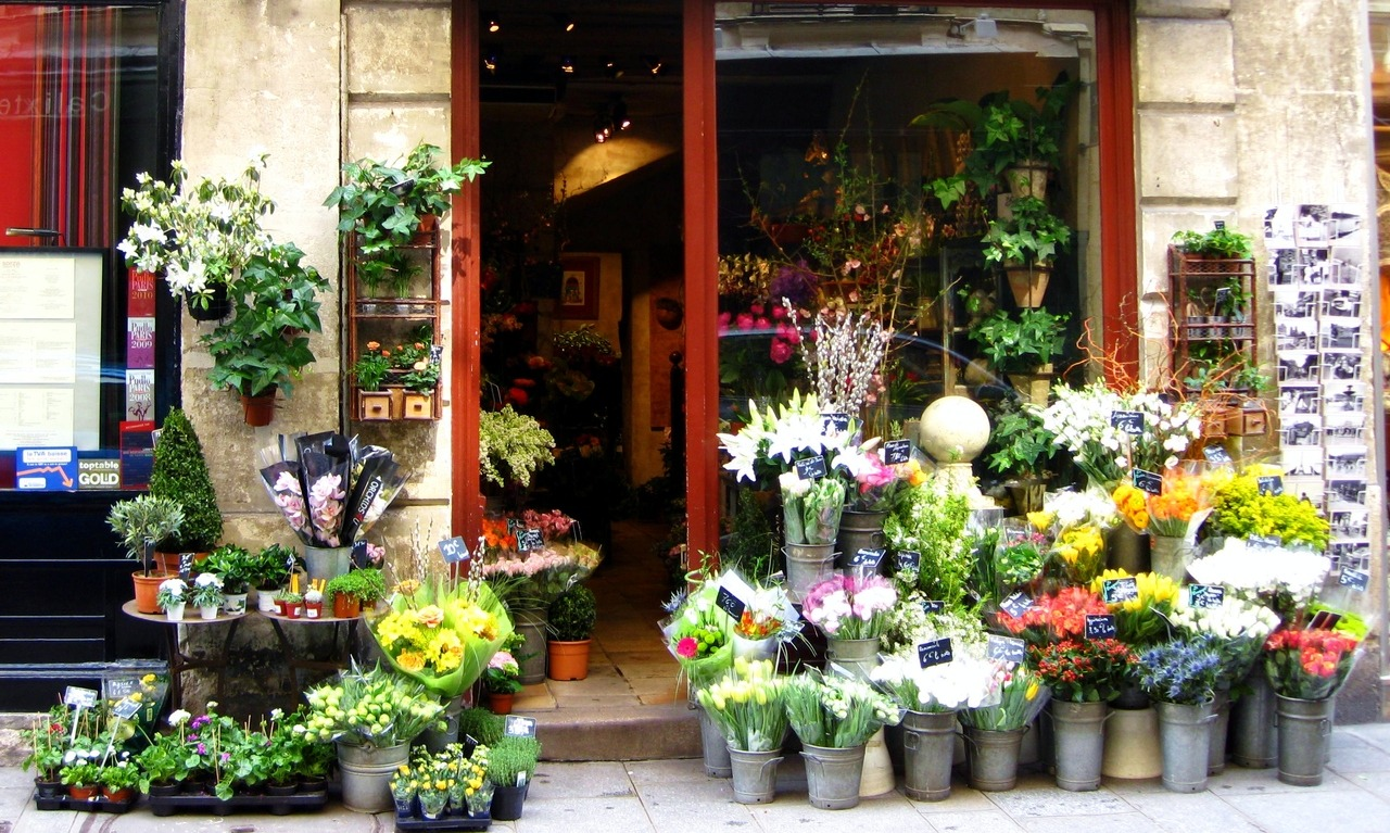 Flower shop, Paris, France. Photo by Amber Maitrejean