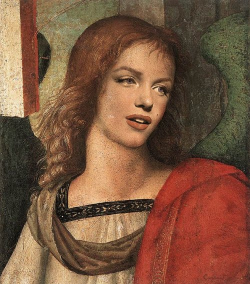 Marilyn Angel by Raphael - The Baronci Altarpiece - 1500.