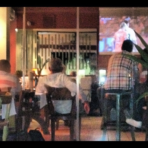 Very excited men watching the game  (Taken with Instagram)