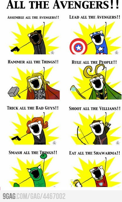 (via 9GAG - All the Avengers!)