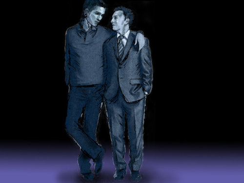limnetic:  Mister Reese and Finch by ~PrizmA-05  *giggles* I love how the artist used a cuteness reference: