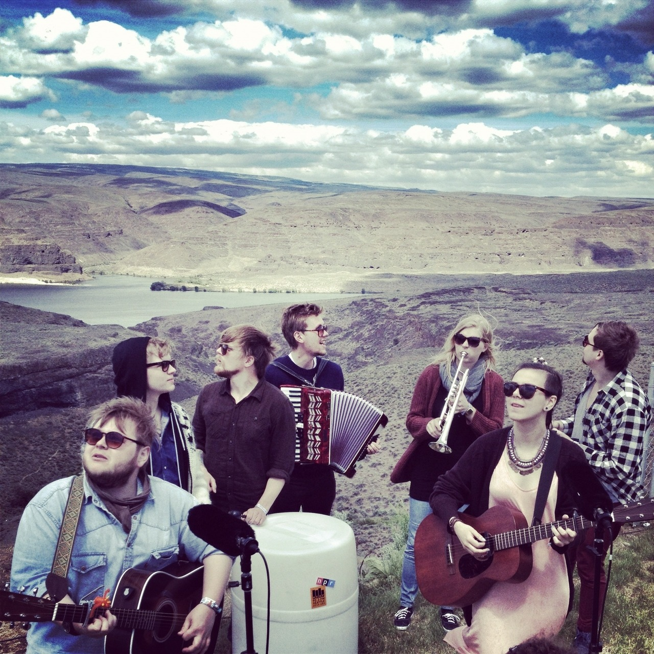 "nprmusic:  Being from Iceland, the members of Of Monsters And Men are no strangers to natural beauty, but the indie-folk group was nevertheless stunned by the picturesque backdrop of the Gorge Amphitheater in Washington as they performed ""Mountain Sound."" ""We sleep until the sun goes down,"" they sang repeatedly while the sun instead broke through the clouds as if called out by the song's radiant optimism. Watch now."
