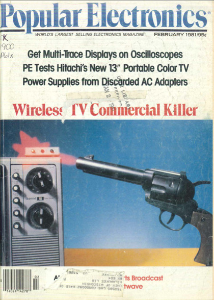 Wireless TV commercial killer Popular Electronics (February 1981)