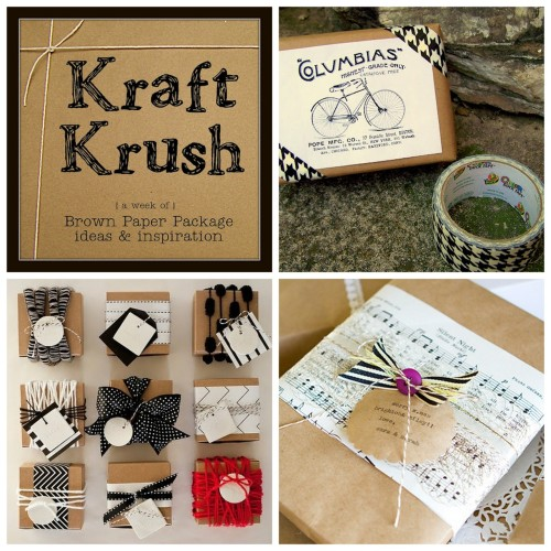 truebluemeandyou:  Roundup Black and White Kraft Paper Packaging Ideas from Older and Wisor here. Photo Upper Right: Older and Wisor duct tape and link to clipart here, Photo Bottom Left: blog.ilowescrap.com.pl/, Photo Bottom Right: armelle here. *For sheet music you can find amazing antiqued interesting examples at deviantart or at The Graphics Fairy.