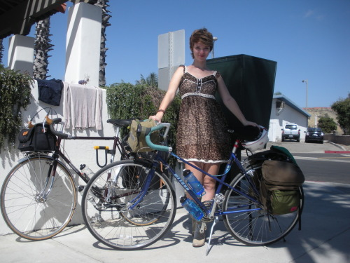 All packed up and ready for the ride!  Our great Orange County bicycle tour of 2009.