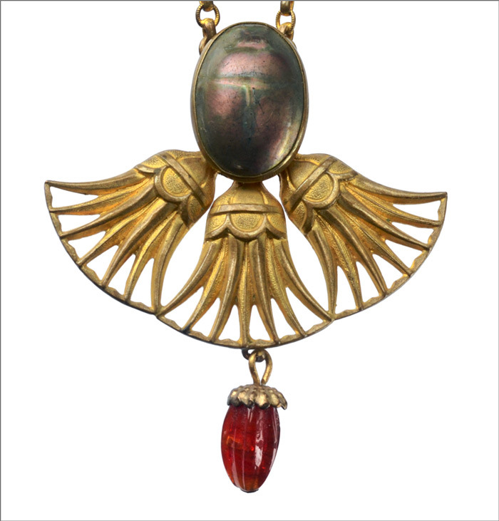 1900s Art Nouveau Scarab Necklace (in the online shop later)