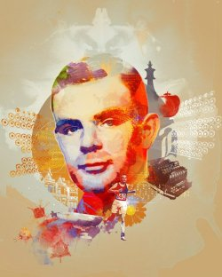 The 100th Anniversary of the birth of Alan Turing Illustration by Andy Potts for Nature