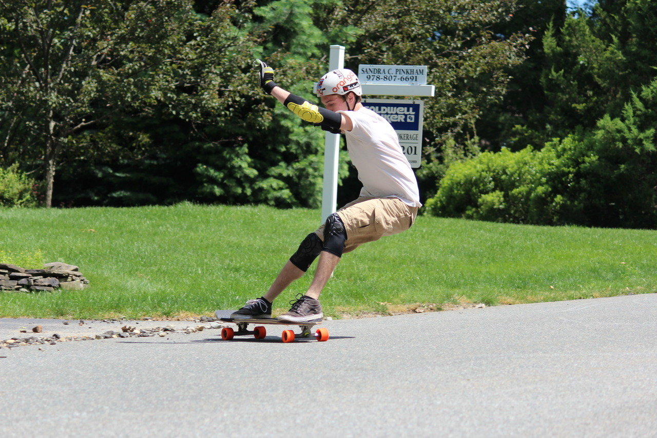 Heelside check. Rider: Mike Girard, wearing G-Form. Photo: Jake Rustoin