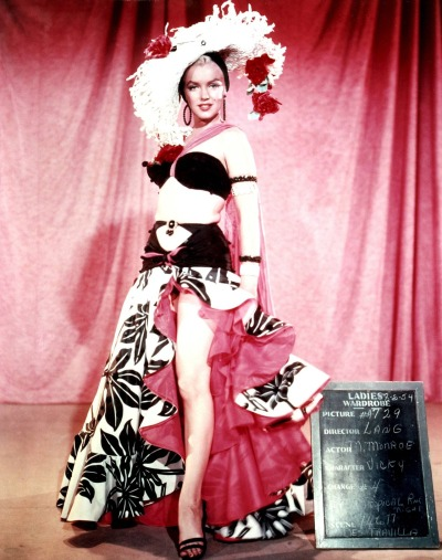 "Marilyn Monroe in No Business Like Show Business. Costume for ""Heat Wave"" performance."