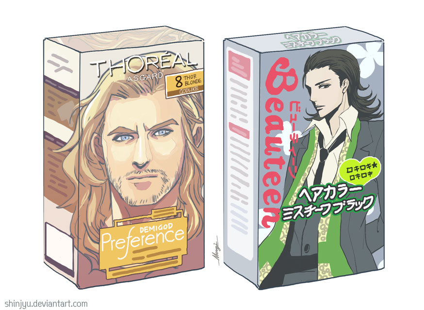 There should be Th'Oreal AND L'Oreal xD (why didn't I see it before?! XD) (btw, the pic's not mine!)
