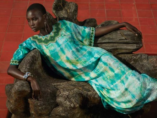 realmofthesenses:  Ataui Deng by Mark Segal for Bergdorf Goodman Spring 2011