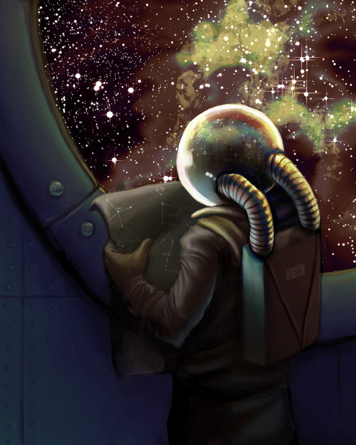 creaturesfromdreams:  The Traveler - Stellar Directions by ~azraelengel —-x—- More: | Sci Fi | Random |