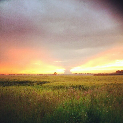Sunset near mine (Taken with Instagram)