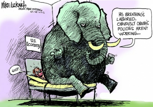 "theweekmagazine:  ""Covering up the evidence""Mike Luckovich, © 2012 Creators Syndicate More cartoons"