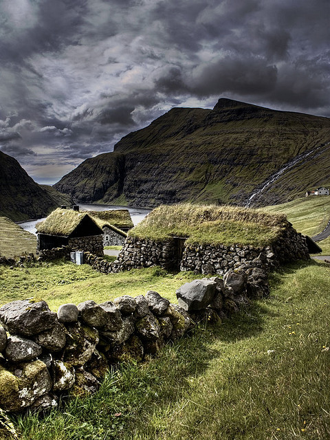 Ancient house in the Faroe Islands.