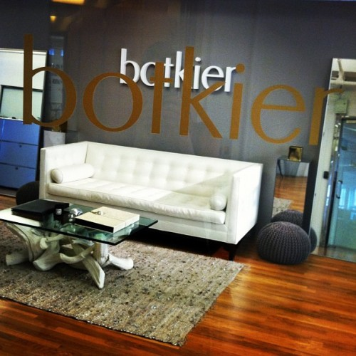How pretty is the @botkier showroom entrance? So relaxing… #interior #design #couch #handbag  (Taken with Instagram)