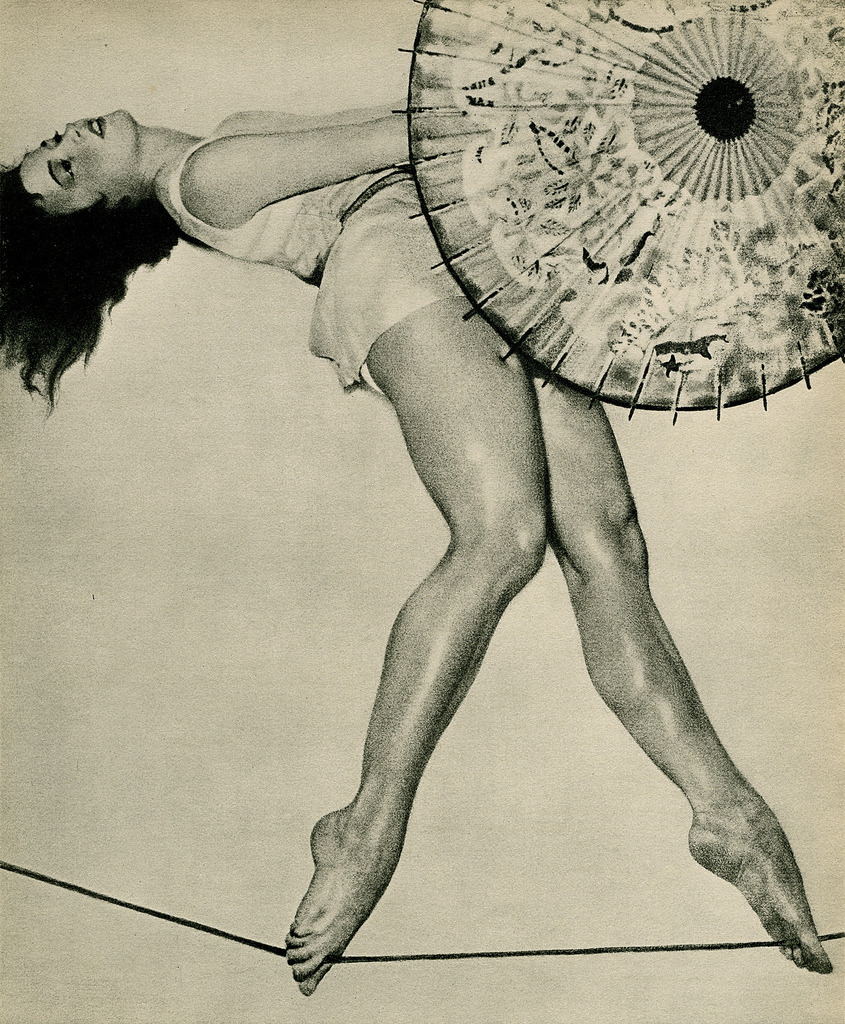 William Mortensen- rope dancer, 1934