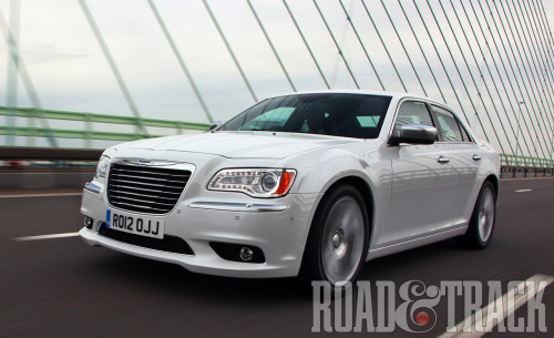 The 2012 Chrysler 300C might not have the German levels of incisive turn-in, but the body control is of an extremely high order. (Source: Road & Track)