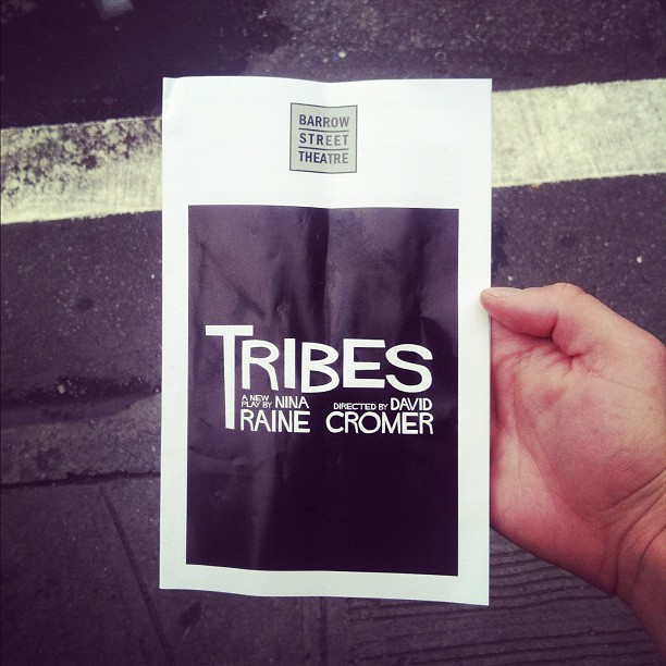 When in NEW YORK: See TRIBES at the Barrow Street Theater. UNREAL. FANTASTIC.  (Taken with Instagram)