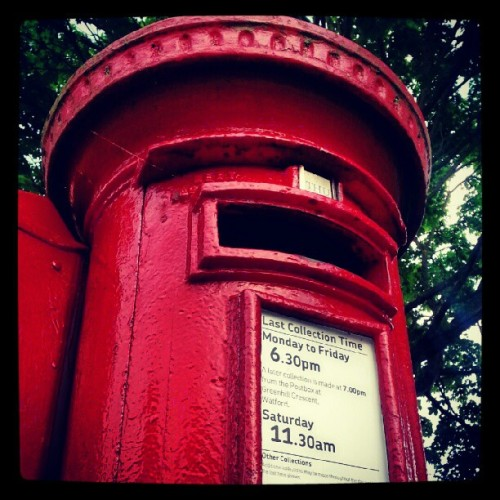 #postbox #red  (Taken with Instagram)