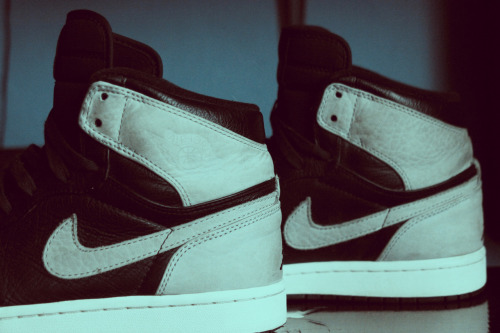 "new Jordan Retro One ""Black/Shadow Grey - White"" in my collection :)"