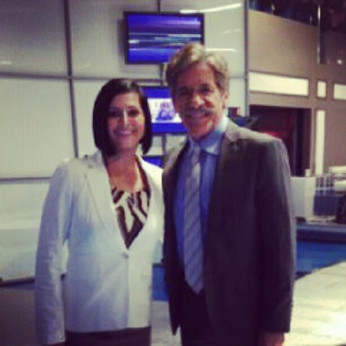 With THE @GeraldoRivera! He was so kind and told me I'd be good in television. Huge compliment coming from him! #OffBalanceMemoir  (Taken with Instagram)