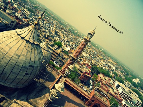 iindia:  Jama Masjid and Delhi from the minaret of Jama Masjid.