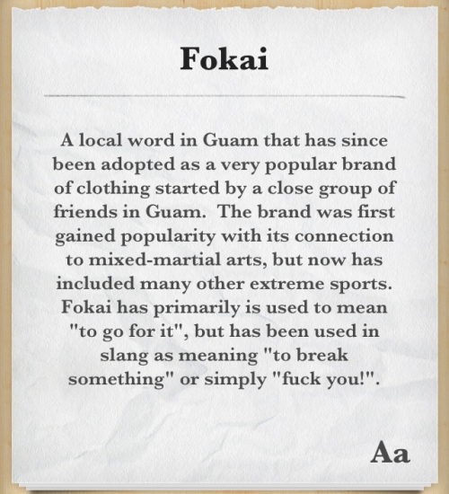viva-la-guam:  'FÖKAI' your face!
