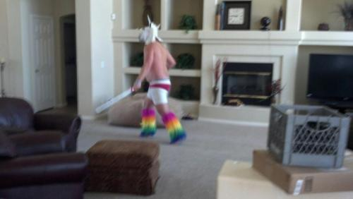 A rare sighting of a roaming lightsaber unicorn from EDC Las Vegas 2012
