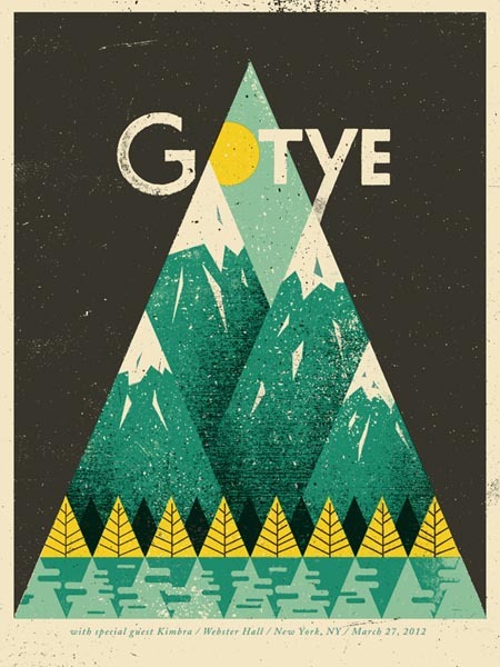 weandthecolor:  Gotye - Gig Poster Illustration and design studio 'Doe Eyed' created the amazing gig poster for Gotye's  show in the Webster Hall, New York (March, 2012). via: WE AND THE COLORFacebook // Twitter // Google+ // Pinterest