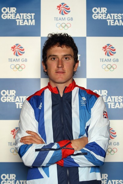 MANCHESTER, ENGLAND - JUNE 13: Team GB athlete Geraint Thomas poses for a photo during the Team GB Cycling Athletes Announcement for London 2012 Olympic Games on June 13, 2012 in Manchester, England. (via Photo from Getty Images)