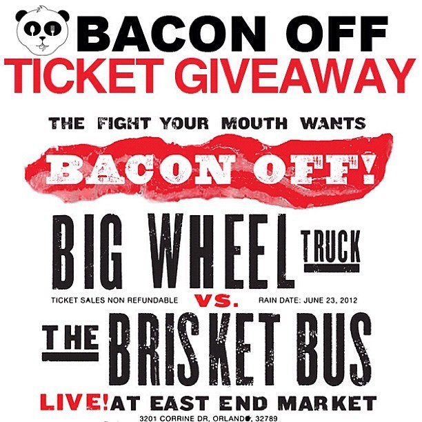 Giving away 2 tickets to @BaconOffOrlando on the blog, today only 6/13! Enter at www.droolius.com (Taken with Instagram)